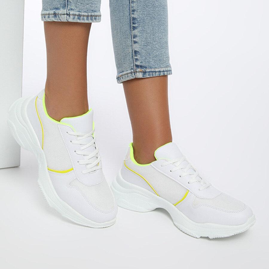 Butigo 19SF-1620 Beyaz Kadın Sneaker