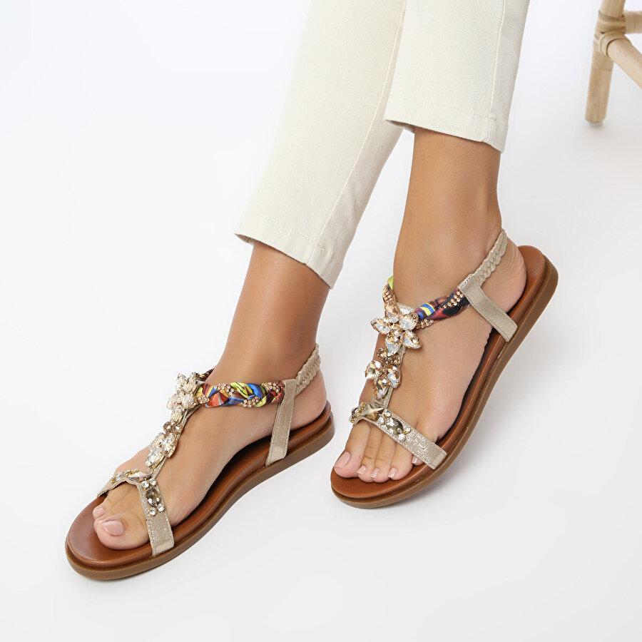 Butigo 20SF-3 Taba Kadın Sandalet