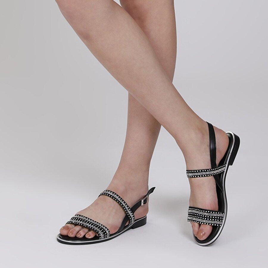 Butigo 20SF-51FX Siyah Kadın Sandalet